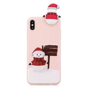 NEW iPhone 7/8 Pink 3D Snowman Case